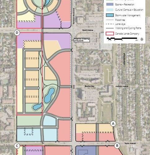 One of the concept plans for the Kapyong Barracks land along Kenaston Boulevard.