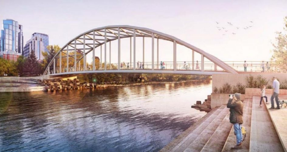 Proposed design of a new pedestrian bridge in Prince