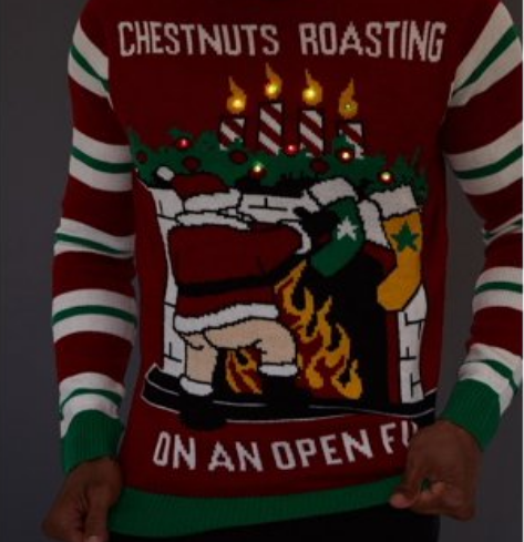 A screenshot taken of  Urban Planet's Chestnuts Roasting Light Up Ugly Christmas Sweater on Dec. 7, 2019.