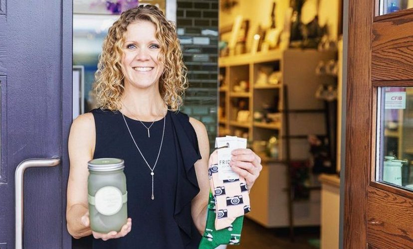 Theresa Ransom, owner of Kala & Lime, a gift boutique shop in Calgary. Photo courtesy of Ransom.