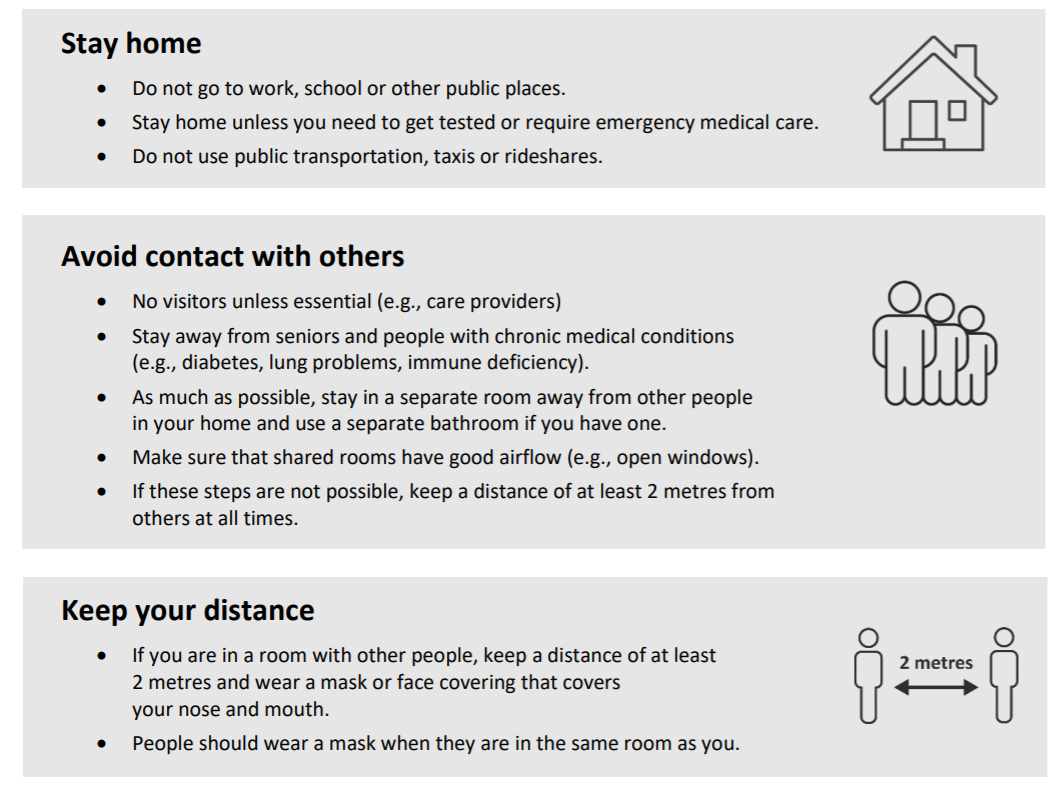 Advice on self-isolation from Public Health Ontario also omits details for special circumstances for children.